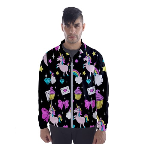 Cute Unicorn Pattern Wind Breaker (men)