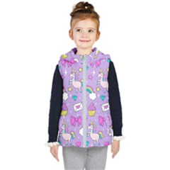 Cute Unicorn Pattern Kid s Puffer Vest by Valentinaart