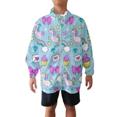 Cute Unicorn Pattern Wind Breaker (kids) by Valentinaart