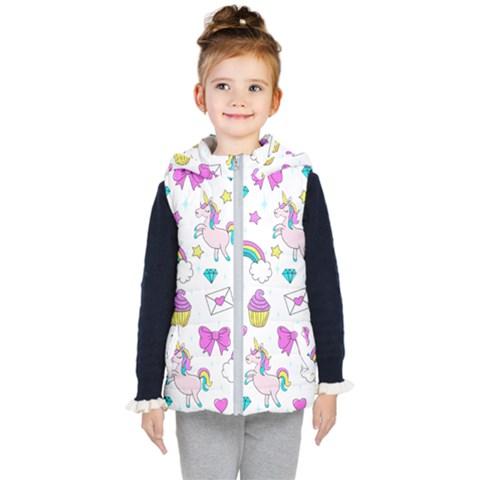 Cute Unicorn Pattern Kid s Puffer Vest