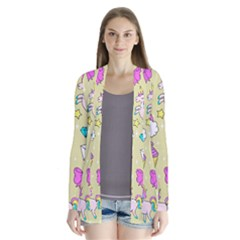 Cute Unicorn Pattern Drape Collar Cardigan by Valentinaart