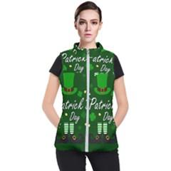 St Patricks Leprechaun Women s Puffer Vest by Valentinaart