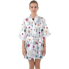 Easter Bunny  Quarter Sleeve Kimono Robe by Valentinaart