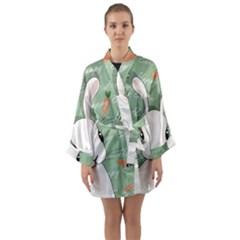 Easter Bunny  Long Sleeve Kimono Robe by Valentinaart