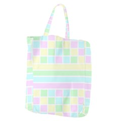 Geometric Pastel Design Baby Pale Giant Grocery Zipper Tote