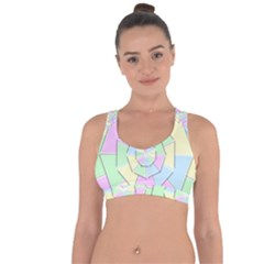 Color Wheel 3d Pastels Pale Pink Cross String Back Sports Bra by Nexatart