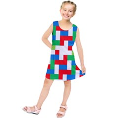 Geometric Maze Chaos Dynamic Kids  Tunic Dress by Nexatart