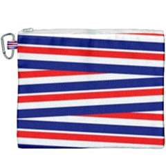 Red White Blue Patriotic Ribbons Canvas Cosmetic Bag (xxxl)