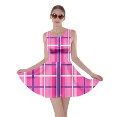 Gingham Hot Pink Navy White Skater Dress