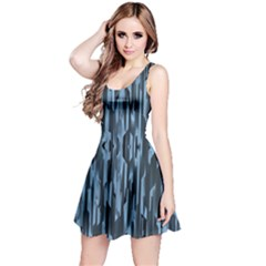 Texture Surface Background Metallic Reversible Sleeveless Dress