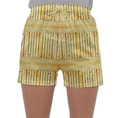 Wood Texture Grain Light Oak Sleepwear Shorts