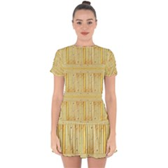 Wood Texture Grain Light Oak Drop Hem Mini Chiffon Dress by Nexatart