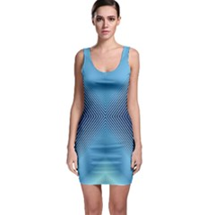 Converging Lines Blue Shades Glow Bodycon Dress by Nexatart