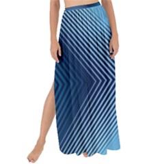 Converging Lines Blue Shades Glow Maxi Chiffon Tie Up Sarong by Nexatart
