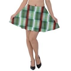 Fabric Textile Texture Green White Velvet Skater Skirt