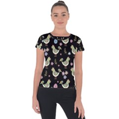Easter Pattern Short Sleeve Sports Top