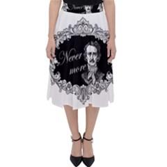Edgar Allan Poe    Never More Folding Skater Skirt by Valentinaart