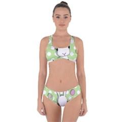Easter Bunny  Criss Cross Bikini Set by Valentinaart