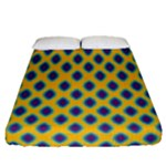 Ankara Tribal Blue Fitted Sheet (Queen Size)