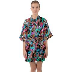 5 4 1 9 Quarter Sleeve Kimono Robe by ArtworkByPatrick