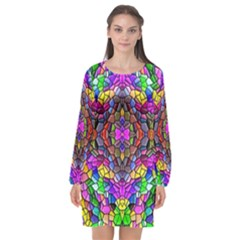 Pattern 807 Long Sleeve Chiffon Shift Dress  by ArtworkByPatrick