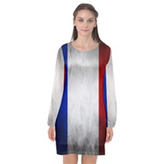 Football World Cup Long Sleeve Chiffon Shift Dress  by Valentinaart