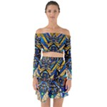 Sirian Solar Invocation Grid - Off Shoulder Top with Skirt Set