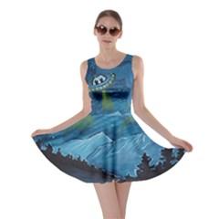 Ufo Cats; Skater Dress by ElizabethJancewiczArt