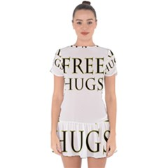 Freehugs Drop Hem Mini Chiffon Dress by cypryanus