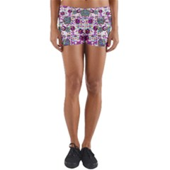 Alien Sweet As Candy Yoga Shorts by pepitasart