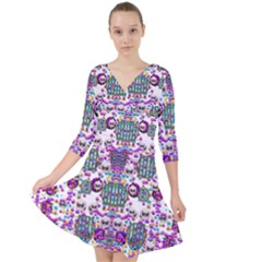 Alien Sweet As Candy Quarter Sleeve Front Wrap Dress by pepitasart