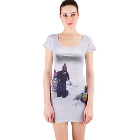 Vitamin Snowboard Short Sleeve Bodycon Dress