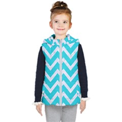 Chevron9 White Marble & Turquoise Colored Pencil Kid s Puffer Vest by trendistuff