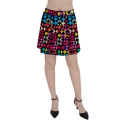 Colorful Rhombus And Triangles                                Panel Skirt