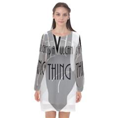 Vulcan Thing Long Sleeve Chiffon Shift Dress  by Howtobead