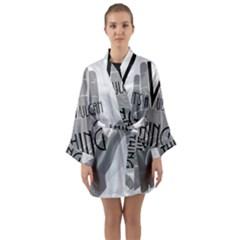 Vulcan Thing Long Sleeve Kimono Robe by Howtobead