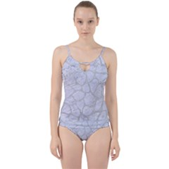 Skin1 White Marble & Silver Glitter Cut Out Top Tankini Set by trendistuff