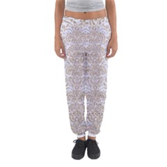 Damask2 White Marble & Sand (r) Women s Jogger Sweatpants by trendistuff
