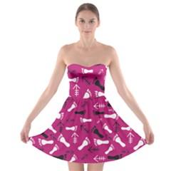 Hot Pink Strapless Bra Top Dress by HASHHAB