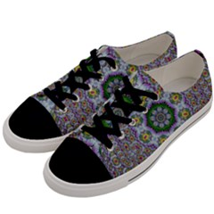 Summer Bloom In Floral Spring Time Men s Low Top Canvas Sneakers by pepitasart