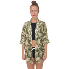 Camouflage 03 Open Front Chiffon Kimono by quinncafe82
