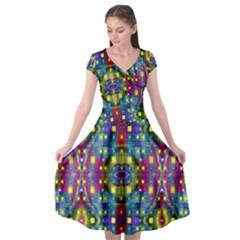 Artwork By Patrick Pattern 23 Cap Sleeve Wrap Front Dress by ArtworkByPatrick