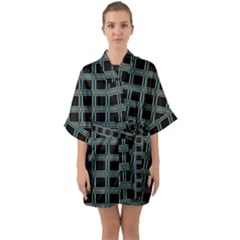 Pattern-29 Quarter Sleeve Kimono Robe by ArtworkByPatrick