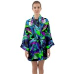 Arcturian Astral Travel Grid - Long Sleeve Kimono Robe