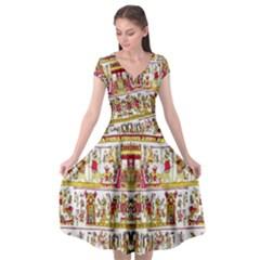 2 9 Cap Sleeve Wrap Front Dress by ArtworkByPatrick