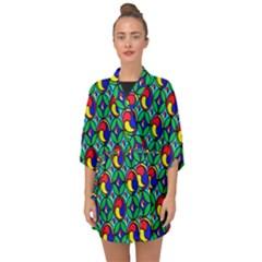 Colorful-4 Half Sleeve Chiffon Kimono