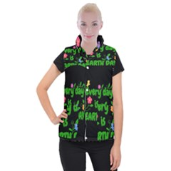 Earth Day Women s Button Up Vest by Valentinaart
