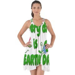 Earth Day Show Some Back Chiffon Dress by Valentinaart