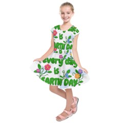 Earth Day Kids  Short Sleeve Dress by Valentinaart