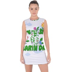 Earth Day Lace Up Front Bodycon Dress by Valentinaart
